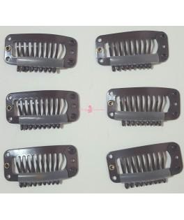 20ud Clips Marrones 9 dientes