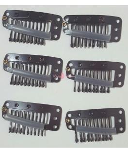 Clips 10 dientes Marrones