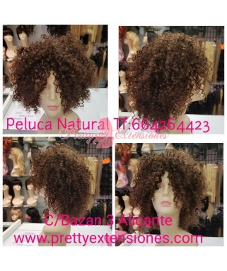 180g Peluca Cabello Natural Kinki Color 4/1b