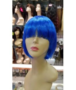 Peluca Bob azul